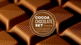 CHOCOLATE BACKGROUND VIDEO Pantalla Digital (16:9) template