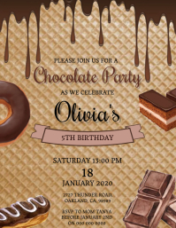 Chocolate Birthday invitation Template