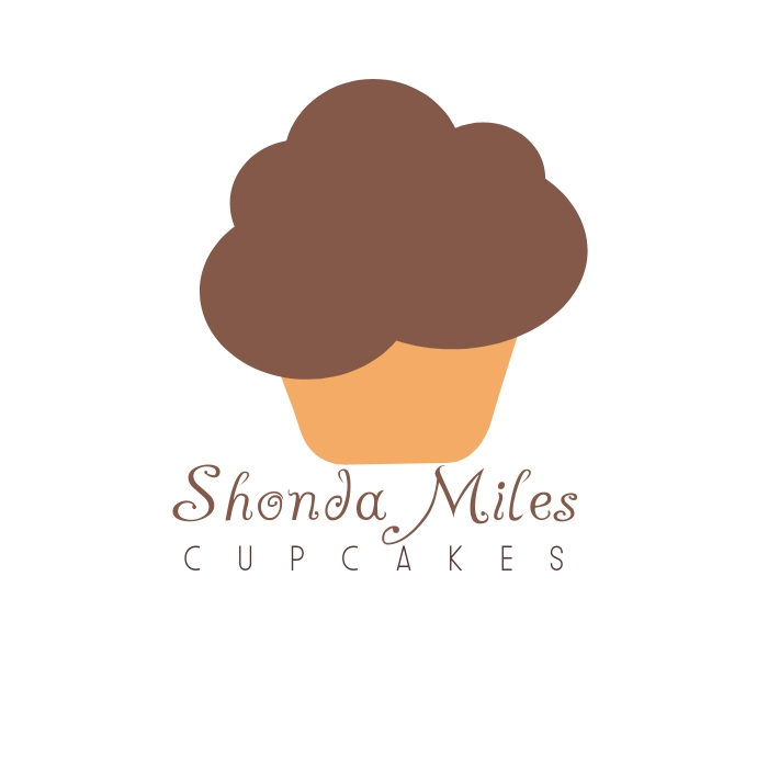 Chocolate Cupcake Bakery Logo template