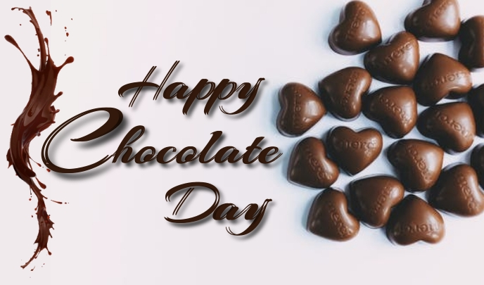 Chocolate Day Etiqueta template