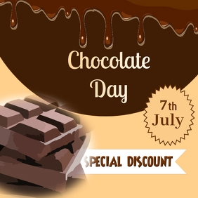 Chocolate day Instagram na Post template