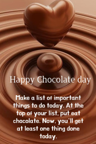 chocolate day Poster template