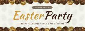 Chocolate Easter Party Invitation Banner