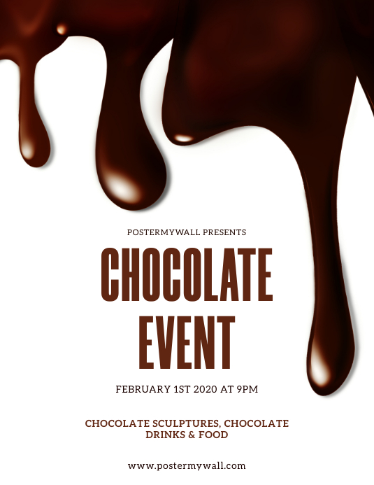 Chocolate Event Flyer Template PosterMyWall