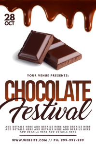 Chocolate Festival Poster template