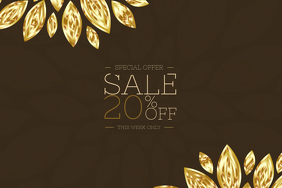 chocolate gold elegant poster template for sale