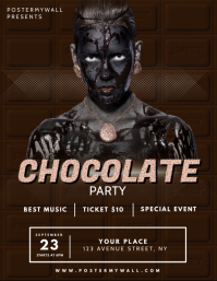 Chocolate Party Flyer Design Template