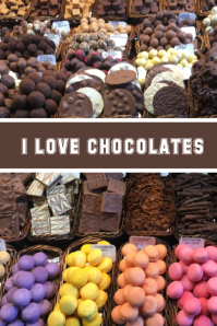Chocolates Banner, Poster Flyer