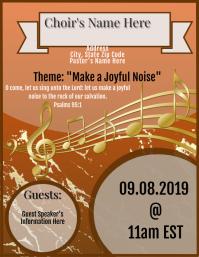 Choir Anniversary Flyer