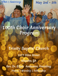 Choir Anniversary Program