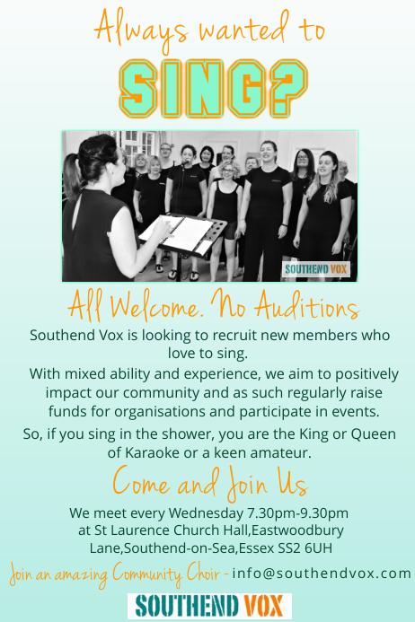 Choir recruitment poster