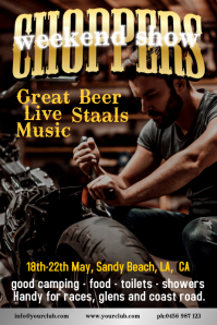 Choppers Event Poster