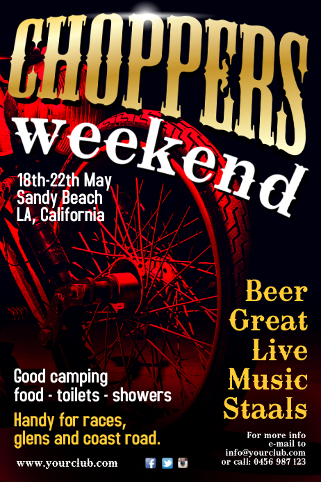 choppers weekend poster