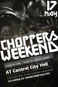choppers weekend flyer template