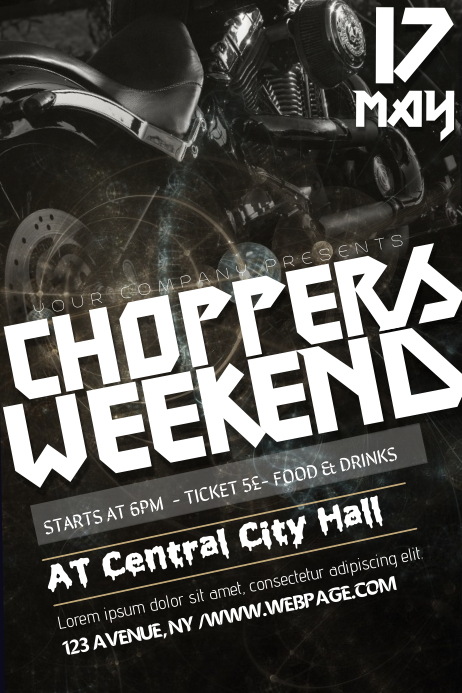 choppers weekend flyer template