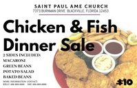 church dinner sales fundraiser chicken fish fry แทบลอยด์ template
