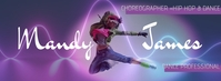Choreographer Dance Facebook Banner template