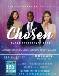 Chosen Event Conference Flyer (US Letter) template