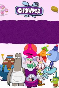Chowder Cartoon Kids Party Birthday Food Invitation Event