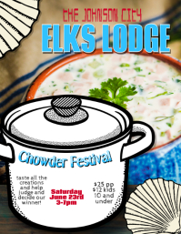 Chowder Chili Contest Festival flyer Template