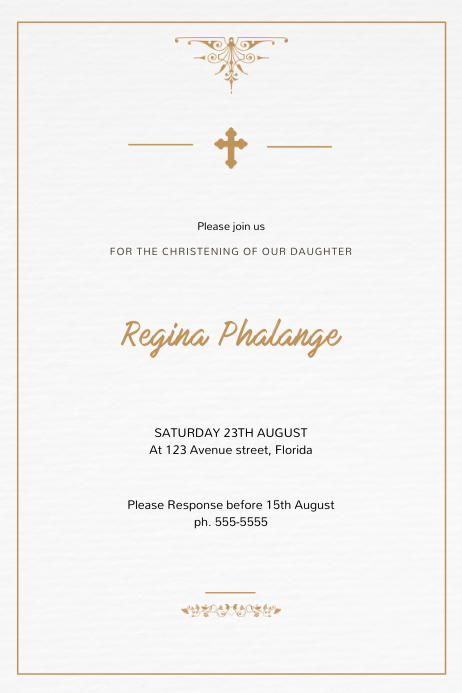 Christening Invitation Template Postermywall