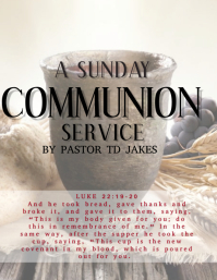 Christian Communion Service Event Template