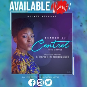 CHRISTIAN GOSPEL ALBUM LAUNCH AD TEMPLATE Persegi (1:1)
