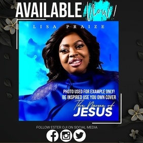 CHRISTIAN GOSPEL ALBUM LAUNCH AD TEMPLATE Square (1:1)