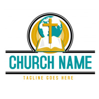 Christian logo Logotipo template