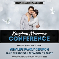 CHRISTIAN MARRIAGE CONFERENCE FLYER TEMPLATE Capa de álbum