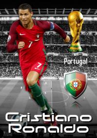 Christiano Ronaldo Poster A2 template