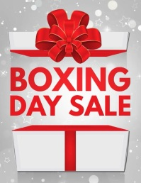 christmas, boxing day sale, boxing day retail Flyer (Letter pang-US) template