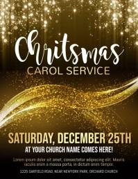 christmas, christmas church service, church Volante (Carta US) template