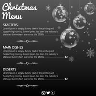 Christmas, Christmas menu Instagram Post template