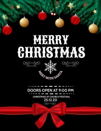 Christmas, Christmas party, new year Folheto (US Letter) template