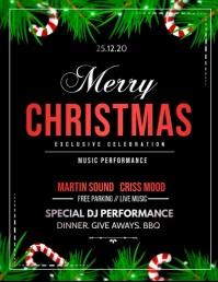 Christmas, Christmas retail, Volante (Carta US) template