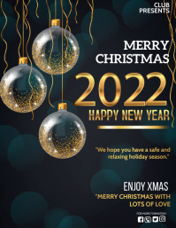christmas, christmas wishes,new year Volante (Carta US) template
