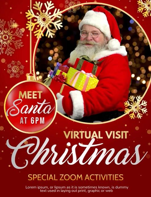 Christmas, meet Santa, new year Pamflet (VSA Brief) template