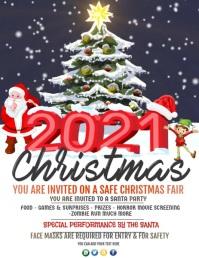 Christmas, new year, winter wonderland Flyer (US-Letter) template