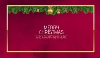 Christmas, new year Etiqueta template