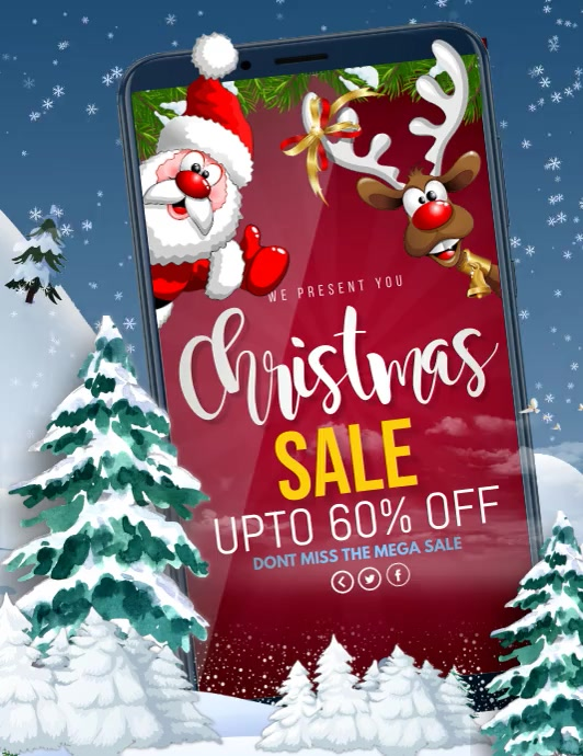 Christmas, Winters, Boxing day Flyer (format US Letter) template
