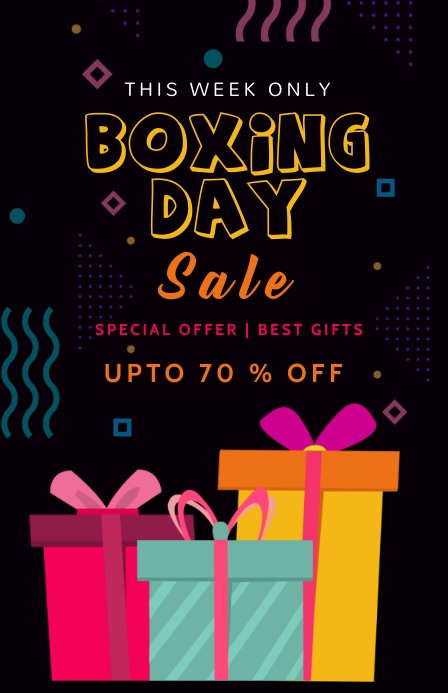 Christmas,Boxing day sale,event Tabloide template