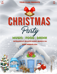 Christmas,Christmas party,Christmas sale Flyer (US Letter) template