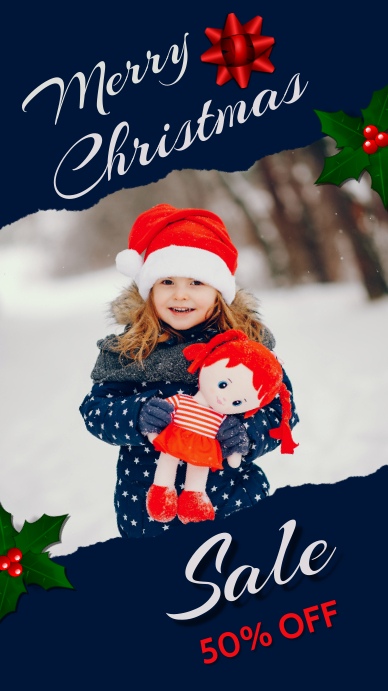 Christmas,Christmas party,winter Instagram-Story template