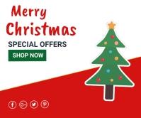 Christmas,Christmas retail,event Rectángulo Grande template