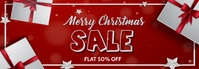 Christmas,new year,event,sale Banner de Tumblr template