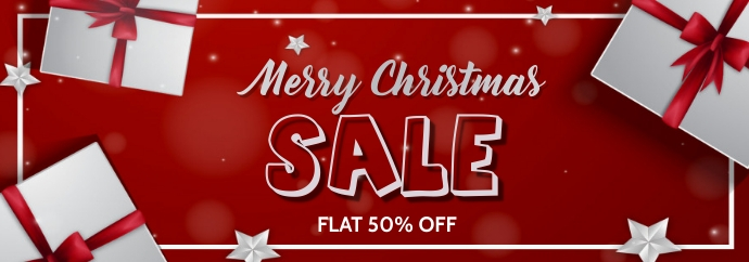 Christmas,new year,event,sale Banner di Tumblr template