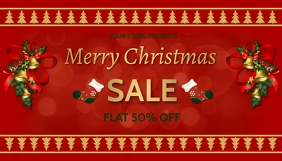 Christmas,new year,event,sale Cabeçalho de blogue template