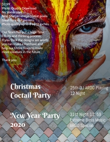 Christmas & Newyear party poster template