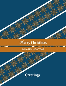 Christmas & newyear poster flyer template